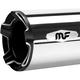 Chrome w/Black End Caps Impact Slip-On Mufflers - 7200905