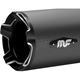 Black Impact Slip On-Mufflers - 7201004