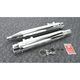 Chrome w/Chrome Tips Deep Cut Slip-On Mufflers - 7202701