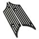 Black Straight Edge Saddlebag Latch Covers - HW129135