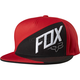 Flame Red Overlapped Snapback Hat - 18754-122-OS