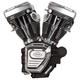T124 Engine w/Wrinkle Black Finish - 310-0882