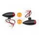 Black Smooth Housing Bullet Light Set - 31-7700
