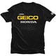 Black Geico Honda Standard T-Shirt