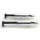 Chrome 3 in. Slip-On Mufflers w/Black Straight End Caps - 500-0202