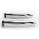 Chrome 3 in. Slip-On Mufflers w/Black Straight End Caps - 500-0300