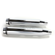 Chrome 3 in. Slip-On Mufflers w/Scalloped End Caps - 500-0400S