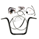 Black Pearl Caliber Handlebar Installation Kit for 14 in. Ape Hanger Bars - 48830-114