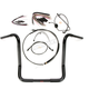Black Pearl Caliber Handlebar Installation Kit for 16 in. Bagger Bars - 48830-216