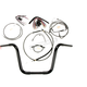 Black Pearl Caliber Handlebar Installation Kit for 12 in. Ape Hanger Bars - 48831-112