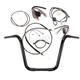 Black Pearl Caliber Handlebar Installation Kit for 14 in. Ape Hanger Bars - 48831-114