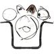 Black Pearl Caliber Handlebar Installation Kit for 14 in. Bagger Bars - 48831-214