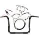 Black Pearl Caliber Handlebar Installation Kit for 12 in. Bagger Bars - 48833-212