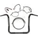 Black Pearl Caliber Handlebar Installation Kit for 14 in. Bagger Bars - 48833-214