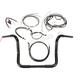 Black Pearl Caliber Handlebar Installation Kit for 12 in. Bagger Bars - 48834-212