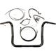 Black Pearl Caliber Handlebar Installation Kit for 12 in. Bagger Bars - 48835-212