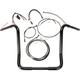 Black Pearl Caliber Handlebar Installation Kit for 16 in. Bagger Bars - 48835-216
