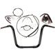 Black Pearl Caliber Handlebar Installation Kit for 12 in. Ape Hanger Bars - 48836-112