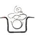 Black Pearl Caliber Handlebar Installation Kit for 12 in. Bagger Bars - 48868-212