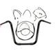 Black Pearl Caliber Handlebar Installation Kit for 14 in. Ape Hanger Bars - 48871-114