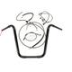 Black Pearl Caliber Handlebar Installation Kit for 16 in. Ape Hanger Bars - 48871-116