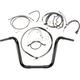 Black Pearl Caliber Handlebar Installation Kit for 12 in. Ape Hanger Bars - 48872-112