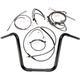 Black Pearl Caliber Handlebar Installation Kit for 14 in. Ape Hanger Bars - 48872-114