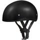 100% Leather Skull Cap Half Helmet w/o Visor