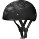Matte Pisons Skull Cap Half Helmet