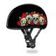 Rose Skulls Skull Cap Half Helmet