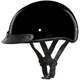 Youth Black Skull Cap Half Helmet