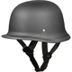 Dull Black German Half Helmet