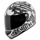 White/Black Rage With The Machine SS700 Helmet