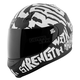 Black/White Rage With The Machine SS700 Helmet