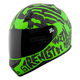 Green/Black Rage With The Machine SS700 Helmet