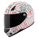 Matte White/Red Hell's Belles SS700 Helmet