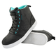 Women's Black/Teal True Romance Moto Shoes
