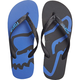 Black/Blue Beached Flip Flops