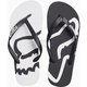 Black/White Beached Flip Flops