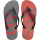 Graphite/Red Beached Flip Flops