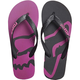 Women's Black Beached Flip Flops