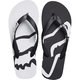 Women's Black/White Beached Flip Flops