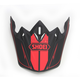 Matte Black/Red Visor for VFX-W Hectic Helmet - 0245-6092-01