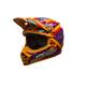Orange/Red/Pink Moto-9 Tagger Designs LE Helmet