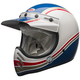 White/Blue Moto-3 RSD Malibu Helmet
