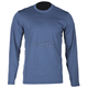 Blue Merino Wool Base Layer Long Sleeve Shirt