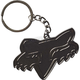 Gunmetal Fox Head Keyring - 20163-038-OS