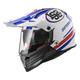 White/Blue Pioneer Quarterback Helmet
