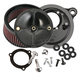Black Stealth Air Cleaner Kit without Cover For Models w/ S&S 66mm Throttle Hog Throttle Body - 170-0165