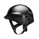 Black Cavalry Half Helmet w/Bluetooth Communicator